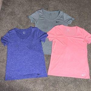 Women's Nike-Dri Fit workout shirts (: